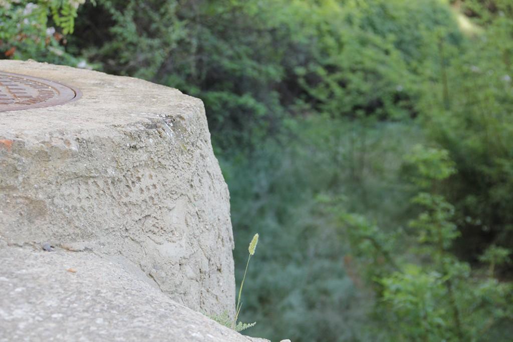 Straight forward on stone